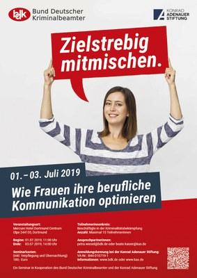 BDK Frauen Seminar 2019: Zielstrebig mitmischen.