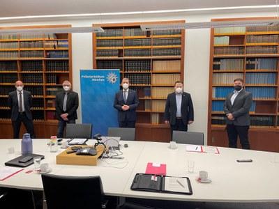 Delegation des BDK München zu Besuch beim Münchner Polizeipräsidenten