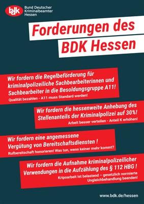 Die Kripo ist nur im Fernsehen toll - Kampagne des BDK Hessen zur Steigerung der Attraktivität der Kriminalpolizei