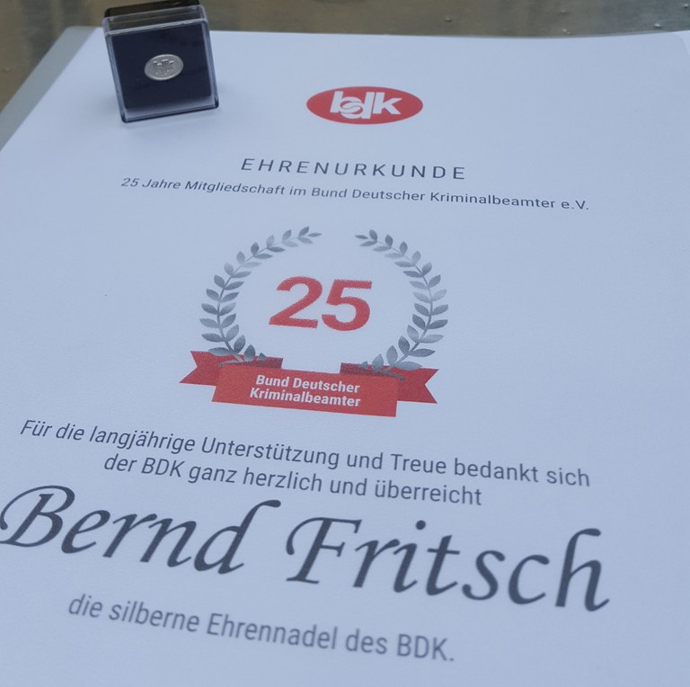Ein Vierteljahrhundert Treue zum BDK….