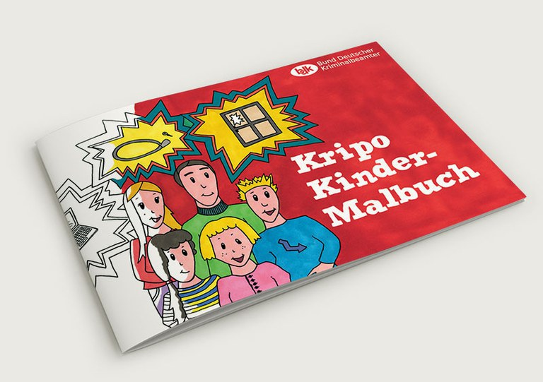 Kripo Kindermalbuch nun auch in Gebärdensprache