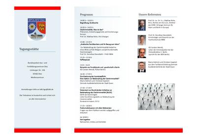 Programmflyer zur Fachtagung Clankriminalität am 12.09.19 in Diez