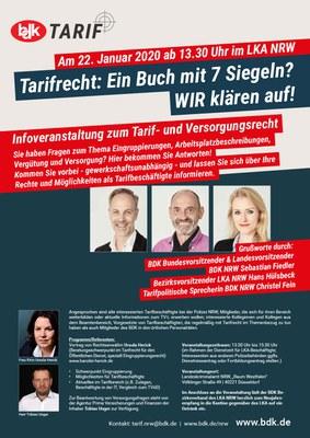 Veranstaltung Tarifrecht im LKA NRW