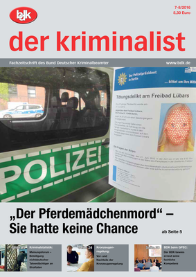 """""""der kriminalist"""" 07-08/2016"""