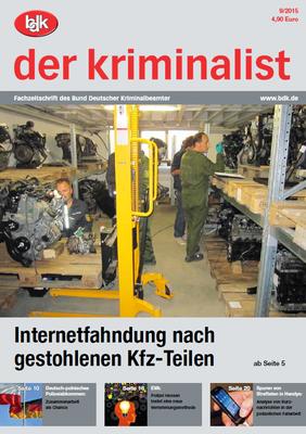 """""""der kriminalist"""" 09/2015"""