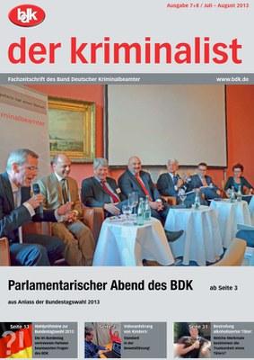 """""""der kriminalist"""" 7+8/2013"""